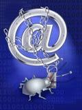 Een spionvirus verdeelt e-mail Vector Illustratie