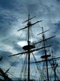 Een spookachtig schip Stock Afbeelding