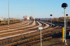 De kromme van het spoor Royalty-vrije Stock Foto