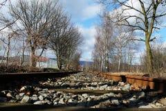 Een spoorweg royalty-vrije stock afbeeldingen