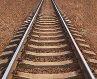 Een spoorwegspoor sluit mening stock foto's