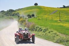 Een sport Gran van ALFA ROMEO van 1930 rode 6C 1750 Stock Fotografie