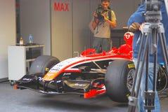 Een sportwagen van het team van Marussia F1 Stock Foto's