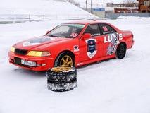 Een sportwagen voor de concurrentie het Afdrijven Royalty-vrije Stock Fotografie