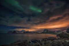 Een sprookjescène van Lofoten-eilanden Royalty-vrije Stock Afbeelding