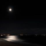 Een stad bij nacht Royalty-vrije Stock Afbeeldingen