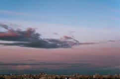 Een Stad Cloudscape Stock Foto's