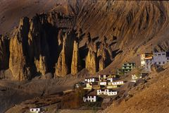 Een stad op de Heuvel Royalty-vrije Stock Fotografie