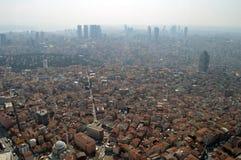 Een stadsmening van Istanboel vanaf de bovenkant Stock Foto's