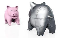 Een vreemder piggy varken Royalty-vrije Stock Foto