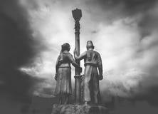 Een standbeeld in de stad van carcarus filippijnen Stock Foto