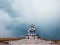 Een standbeeld van Chingis Khan Genghis Khan Stock Foto