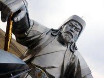 Een standbeeld van Chingis Khan Genghis Khan Royalty-vrije Stock Afbeelding
