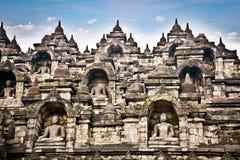 Een standbeeld van de Borobudur-tempel op Java, Indonesië. Stock Afbeelding