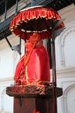 Een standbeeld van Hanuman in oud Royal Palace in Katmandu Royalty-vrije Stock Afbeeldingen