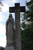 Een standbeeld van Maagdelijke Mary Stock Afbeelding