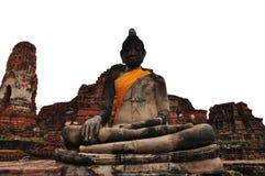 Een standbeeld van zittingsBoedha. Royalty-vrije Stock Fotografie