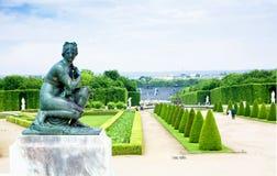 Een standbeeld in Versailles stock foto's