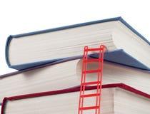 Een stapel boeken met een ladder Royalty-vrije Stock Afbeelding