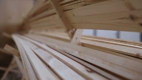 Een stapel hout stock video