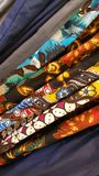 Een stapel Javanese klassieke patronen van batik Royalty-vrije Stock Afbeeldingen