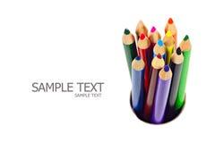 Een stapel kleurpotloden Royalty-vrije Stock Fotografie