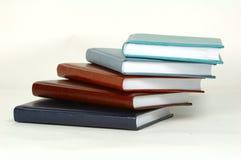 Een stapel lijstboeken Stock Foto