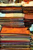 Een stapel met Stoffen Stock Afbeelding