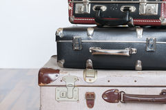 Een stapel oude koffers Royalty-vrije Stock Foto