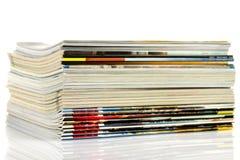 Een stapel tijdschriften Stock Foto