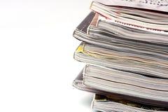 Een stapel tijdschriften Royalty-vrije Stock Foto's