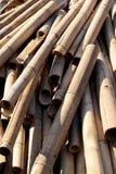 Een stapel van bamboelogboek Stock Fotografie