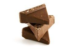 Een stapel van chocolade stock foto