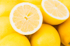 Een stapel van citroenen Royalty-vrije Stock Foto