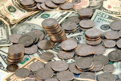 Een stapel van geld royalty-vrije stock fotografie
