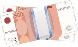 Een stapel van geld Munt - de roebel Royalty-vrije Stock Afbeeldingen