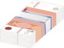 Een stapel van geld Munt - de roebel Stock Foto's