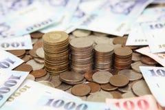 Een stapel van geld in Taiwan Royalty-vrije Stock Foto's