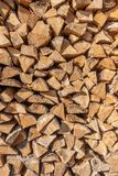 Een stapel van hout stock foto's