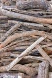 Een stapel van houten stok Stock Foto