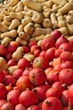 Een stapel van kleurrijke pompoenen stock foto