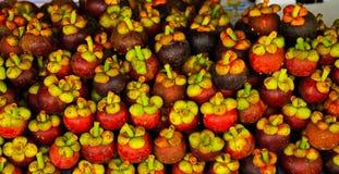 Een stapel van mangostan Royalty-vrije Stock Fotografie