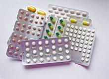 Een stapel van pillen Stock Fotografie