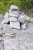 Een stapel van Rotsen Stock Foto's