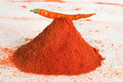 Een stapel van Spaanse peperskruid Royalty-vrije Stock Foto's