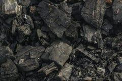 Een stapel van steenkool Plaats van brand Royalty-vrije Stock Afbeelding