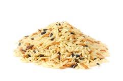 Een stapel van wilde rijst Stock Afbeelding