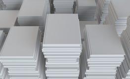Een stapel van Witboek Royalty-vrije Stock Foto's