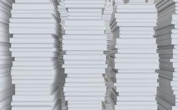 Een stapel van Witboek Stock Foto's