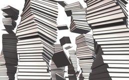 Een stapel van Witboek Royalty-vrije Stock Afbeeldingen